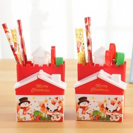 brown stationery NZ - Santa Claus Stationery Christmas Child Gift Creative Prize Gift For Primary School Students