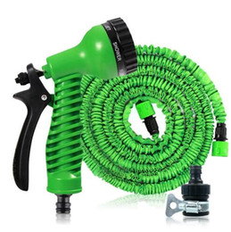expandable hose connector NZ - Magic Garden Water Hose Flexible Expandable Garden Hose Reels Tube Car Watering Connector Irrigation Hose With Spray Gun