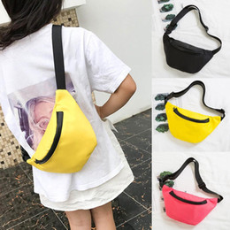 snack packs 2019 - Fashion Children's Waist Bag Chest Bag Coin Purse Snack Pack Black Fanny Pack for Child Drop Ship cheap snack packs