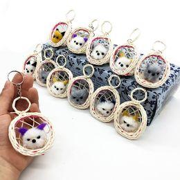 $enCountryForm.capitalKeyWord Australia - Plush Cute Kitties Cat Keychain Toys Animal Stuffed Handbag Pendant Doll Car Decoration Party Gift Promotional Novelties