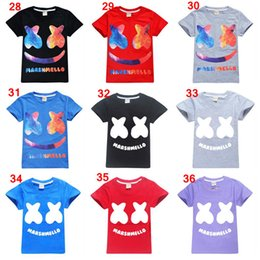 Cotton Mask For Kids Australia - Mask DJ Marshmello T Shirts for Kids cartoon Print Cool Funny T-Shirt Teenagers Boys Short Sleeve Summer Tops shirt