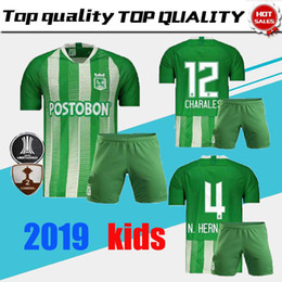 thai quality 1920 Atletico Nacional Medellin Kids Soccer Jersey H.BARCOS  Colombia Club Medellin Home Football Tops Short Sleeve Sports Shirt 142be1c35