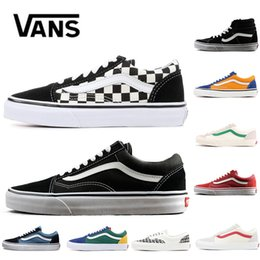 41ebd979a9 New Cheap Original Vans Fear Of God classic Men Women Canvas Sneakers CHECKERBOARD  Black White YACHT CLUB MARSHMALLOW Skate Casual Shoes