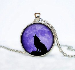 $enCountryForm.capitalKeyWord NZ - Howling Wolf Pattern Pendant Necklace Creative Wolf Jewelry Gift for Women Glass Dome Pendant Fine Clothing Accessories Wholesale