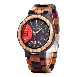 Bird Products NZ - BOBO BIRD Luxury Wood Watches Men Quartz Show Date Clock Quality Chinese Products Drop ship relogio masculino