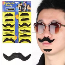 Black Beard Costume Australia - 12pcs set Halloween Party Costume Fake Mustache Moustache Funny Fake Beard Whisker Party Costume for Adult Kids aa264-277 2018052305 ayq