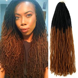 soft locks braids Australia - Synthetic Dreadlocks Sisterlocs 18inch Sister locks Extensions 27strands Double ends Black Blonde #613 Faux locs Crochet Braids Hair