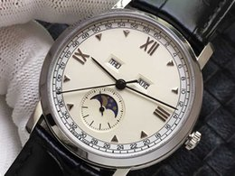 $enCountryForm.capitalKeyWord Australia - High quality moon phase watch automatic mechanical watch for men best gift clock stainless steel leather wristwatches