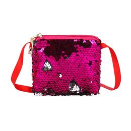 $enCountryForm.capitalKeyWord UK - Cute Bling Sequined Coin Purse Child Change Pouch Girls Mini Zipper Shine Bag Kids Shoulder Bags LLA412