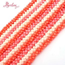 """$enCountryForm.capitalKeyWord Australia - 3x8mm Peanut Red.Pink.Orange Bead Coral Natural Stone Beads For DIY Necklace Bracelet Jewelry Making 15"""" Free Shipping Wholesale"""