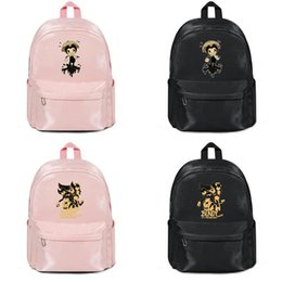 $enCountryForm.capitalKeyWord Australia - Bendy and the Ink Machine game Harajuku Women Men Water Resistant Black Canvas School Casual Wip Backpack cool Student Male Female Large