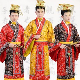 $enCountryForm.capitalKeyWord Australia - Traditional Tang Emperor Costume Dynasty Qing Hanfu Ancient Dragon Robe Prince Costume Adult Male Chinese Folk Dance Wear DL4145