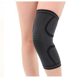 elastic knee sleeve support Australia - Elastic Sports Leg Knee Support Brace Wrap Protector Knee Pads Protector Safety Kneepad Sleeve Cap Patella Guard Volleyball