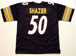 4ef3bf83d Cheap Retro custom Sewn Stitched  50 Ryan Shazier Black MITCHELL   NESS  Jersey High-end Men s Football Jerseys College NCAA