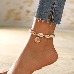 Anklets new designs online shopping - Nature white shell Anklets new design body jewelry shell shape anklets for holiday vacation summer ocean beach jewelry