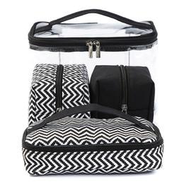$enCountryForm.capitalKeyWord Australia - Women Multi-function Cosmetic Bag Transparent PVC Portable Combined Suit Wash Bags Travelling Handbag Canvas bag 4pcs RRA474