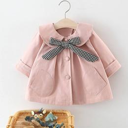 Jacket design girl online shopping - Autumn Baby Girl Outfits Coats Casual Cute Outerwear Bowknot Design Sweatshirt Kids Jacket Tops Hot