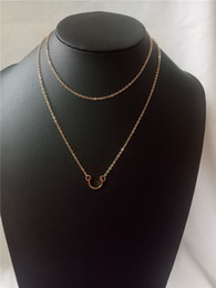 Rose Chains Australia - cecmic rose gold chain pendant necklace for women with double layered jewelry jewellery