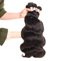 $enCountryForm.capitalKeyWord Australia - URmeili Body Wave Virgin Hair Weave Bundles 8-32 Inch remy Natural Color body wave 3 4 bundles 100% remy Human Hair Extensions