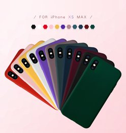wholesale phone jackets NZ - 50pcs lot Iphonex mobile phone shell material color painting pure color TPU customized Apple Max protective jacket drawing sanding soft whol