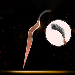 Lash Tweezers Tools NZ - 1PCS False Eyelash Fake Eye Lash Tweezers Applicator Clip Make Up Eyelashes Tweezer Lash Curler Beauty Makeup Tool