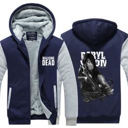 $enCountryForm.capitalKeyWord Australia - Men Velvet Thicken Hooded The Walking Dead Daryl Dixon Winter Thicken Zipper Casual Jacket Super Warm Sweatshirt USA EU Size Plus Size
