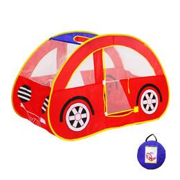 Venta al por mayor de Car Play Tent Indoor Play House Cabaña de juguete para niños al aire libre Juguete plegable Kids Juguete de exterior Juguetes para bebés para niños