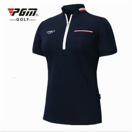 $enCountryForm.capitalKeyWord Australia - 2018 PGM Golf Clothing women short sleeve Summer Breathable sports T shirt golf Slim Training apparel lady Top jersey size S-XL