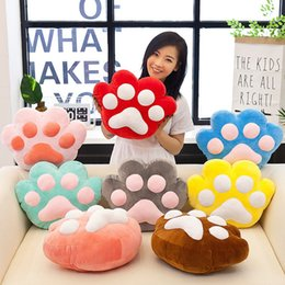 Green Office Chairs Australia - Portable Blanket Cute Pillow Cat Claw Cushions Blanket Seat Pad Office Nap Chair Cushions Sofa Pillows Seat Cushion
