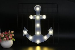 $enCountryForm.capitalKeyWord Australia - Cool Anchor Shape Night Light Dark Blue Red Black Color Pirate Sailor LED Lamp Marquee Sign For Room Decoration Cosplay Props
