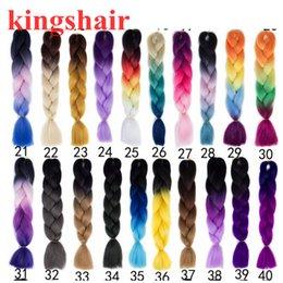 Apparel Accessories Mumupi 1pcs 24 100g/pcs Ombre Two Tone Kanekalon Jumbo Braiding Crochet Box Braid Hair Synthetic Hair For Braids Headwear