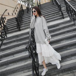 trumpet style maxi dress Australia - SuperAen 2018 Fashion New Arrival Autumn Elegant Casual Cotton Dress Trumpet Long Dress Women O-Neck Maxi Dress T5190615