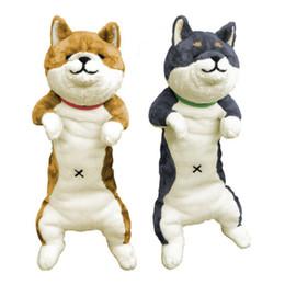 $enCountryForm.capitalKeyWord Australia - 80cm Japan Anime Plush Dog Toy Giant Animals Dog Doll Akita Toys Strips Nap Pillow for Children Friend Gift