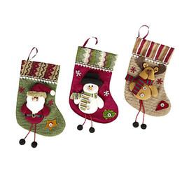 Christmas Gift Ornaments Australia - 3Pcs Pendant Ornaments Christmas Candy Gift Bag christmas stocking socks gift bags holder xmas new year 2019 camiseta navidad