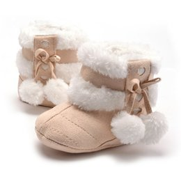 $enCountryForm.capitalKeyWord Australia - Cute Snow Cotton Warm Boots Infant Soft Soled Newborn Winter Baby Shoes For Girl Anti-slip Christmas Booties