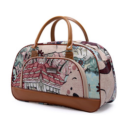 $enCountryForm.capitalKeyWord UK - 2019 Travel Bags for Women Fashion PU Leather Large Capacity Waterproof Print Luggage Duffle Bag Casual Travel Bags