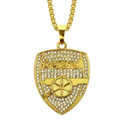 $enCountryForm.capitalKeyWord Australia - Hip Hop Diamond Letter Alloy Pendant Necklace New Style Fashion Personality Army Shape Collarbone Chain Pendant Necklaces