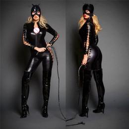 $enCountryForm.capitalKeyWord Australia - Bodysuit Black Latex Costumes Womens Sexy Gothic Punk Fetish Catsuit Faux Leather Jumpsuit Female Black Latex Bodysuits