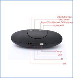 $enCountryForm.capitalKeyWord Australia - Portable Wireless Bluetooth X6U Rugby Football Stereo Speaker X6U Car Handsfree Speaker With TF AUX USB FM column speaker