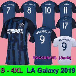 8e0b9a7e2 S - 4XL LA Galaxy 2019 away soccer jerseys IBRAHIMOVIC GIOVANI football  shirts ALESSANDRINI DOS SANTOS 19 20 maillot de foot LLEGET BECKHAM