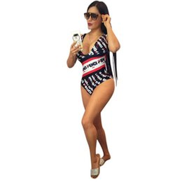$enCountryForm.capitalKeyWord Australia - Women Fends One Piece Bikini Swimsuit Luxury Designer Swimwear Double F FF Striped Swim Suits Monokini Brand Swim Beach Wear Clothing C52906