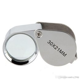Magnifier Box Australia - 30x21mm Jewelers Eye Loupes Jewelry Diamond Magnifiers Magnifying Glass Ingenious portable Loupe Magnifier Silver color in retail box