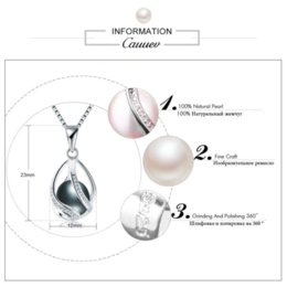 Necklaces Pendants Australia - Cauuev genuine 100% Natural freshwater Pearl Jewelry Hot Selling 925 Sterling Silver Pendant Necklace gift For Women Female Jew
