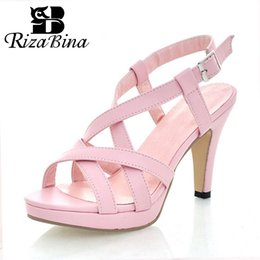 $enCountryForm.capitalKeyWord Australia - Rizabina Size 32-43 Women's High Heel Sandals Gladiator Shoes Women Lady Sexy Platform Sandals Heels Summer Shoes Sandals MX190727
