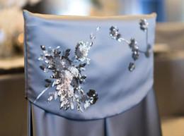 $enCountryForm.capitalKeyWord Australia - 2019 Applique Satin Made Wedding Chair Covers Cheap Elegant Chair Sashes VintageWedding Decorations Wedding Accessories C02