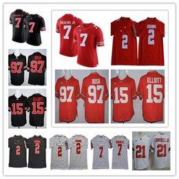 NCAA Ohio State Buckeyes  2 JK Dobbins  7 Dwayne Haskins Jr.  97 Nick Bosa   15 Elliott Camo College Football Jerseys men 5088063eb