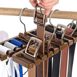Ingrosso 1PCS / SET Plastic Tie Belt Scarf Rack Organizer Armadio Armadio salvaspazio Hanger con gancio in metallo A
