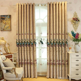 Modern Living Products Australia - European custom embroidery curtain finished products Modern bedroom living room blackout floor curtains screen fabric