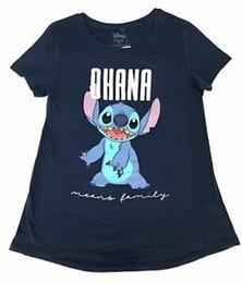 $enCountryForm.capitalKeyWord Australia - Hip hop Lilo & Stitch Ohana Means Family T Shirt Womens Juniors Blue (Small) NEW