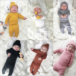 $enCountryForm.capitalKeyWord Australia - Autumn Winter Baby Boys Girls Cotton Knitted Clothes Sets Infant Kids Warm Sweater + Pants +hat 3pcs Suits Baby Clothing J190717